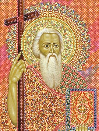 Икона святого апостола Андрея Первозванного, иконописец Юрий Кузнецов