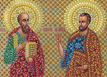 Икона святых апостолов Петра и Павла, иконописец Юрий Кузнецов