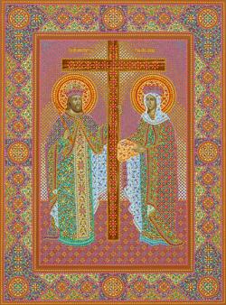 Икона святых царицы Елены и царя Константина