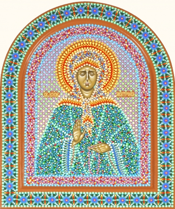 Икона Cвятой блаженной Матроны, иконописец Юрий Кузнецов