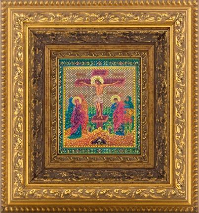Распятие (фрагмент многообразной иконы), иконописец Юрий Кузнецов