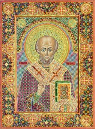 Икона Николая Чудотворца, иконописец Юрий Кузнецов