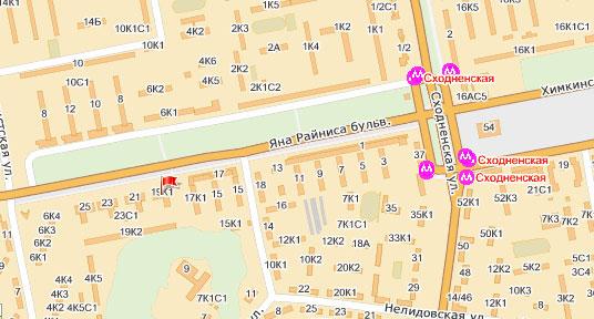 Схема проезда: бульвар Яна
