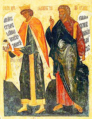 Царь Соломон и пророк Исаия. Ярославская икона XVI века fbf3807cb00