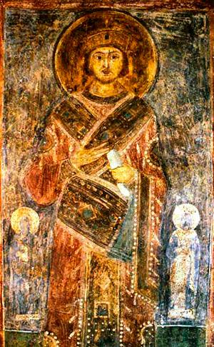 Пророк Соломон. Фреска в Софийском соборе г. Киева (XI в.) a53851bbef7
