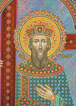 Икона святого равноапостольного царя Константина, иконописец Юрий Кузнецов