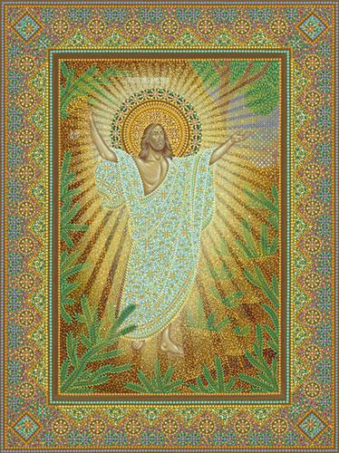 Икона «Воскресение Христово», иконописец Юрий Кузнецов
